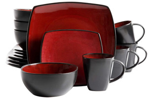 stoneware color glaze two-tone ceramic dinner set