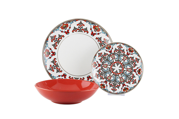 stoneware decal ceramic dinner set