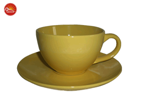 solid color cup and saucer