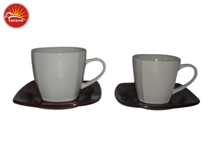Color Glaze Cup and Saucer trc0290