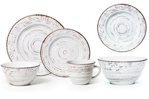 TRC0656   color glazed dinner set