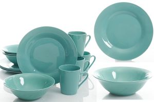 TRC0587  two tone color glazed dinner set
