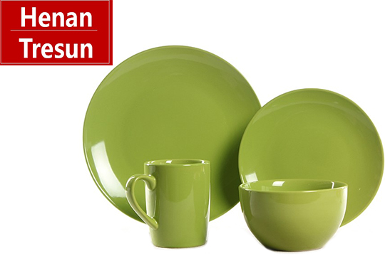 TRC0590 two tone color glazed dinner set