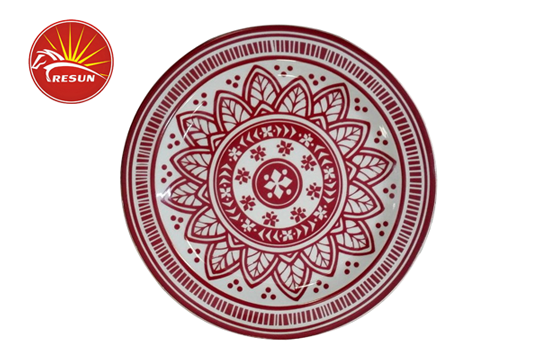 TRD0005 decal dinner plates, dinner plate
