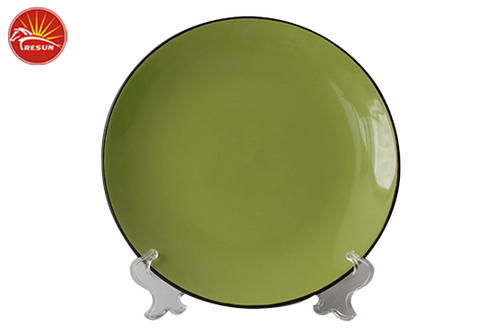 dinner plate, color glaze dinner plate, ceramics