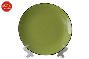dinner plate, color glaze dinner plate